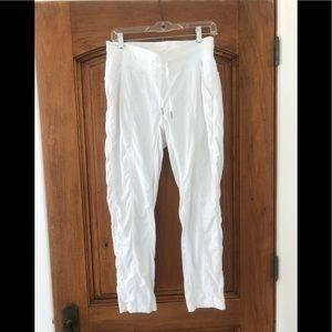 Lululemon white exercise pant